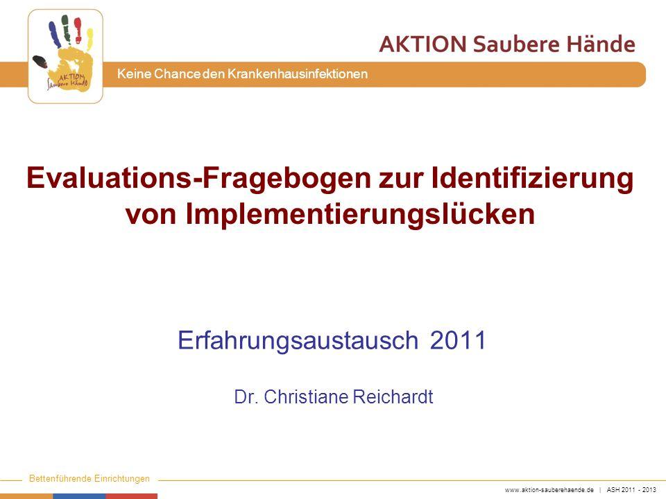 Evaluations-Fragebogen zur Identifizierung von Implementierungslücken