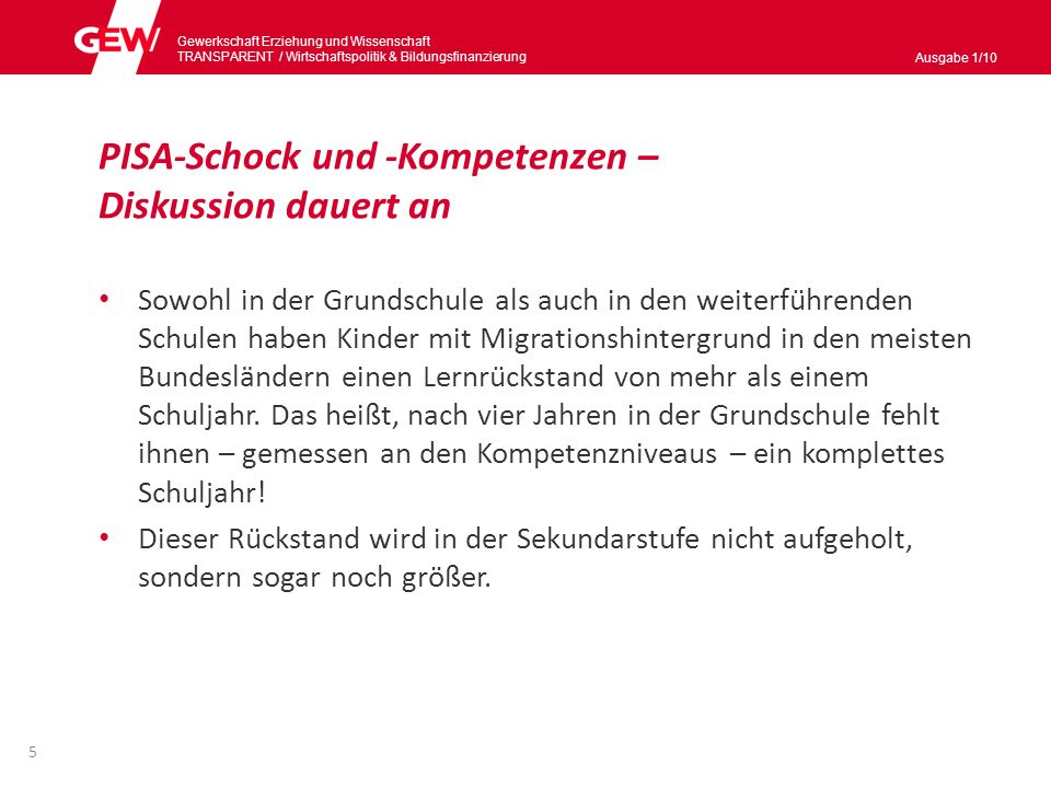 PISA-Schock und -Kompetenzen – Diskussion dauert an