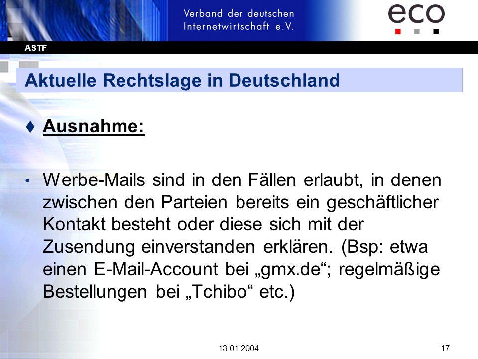 Aktuelle Rechtslage in Deutschland