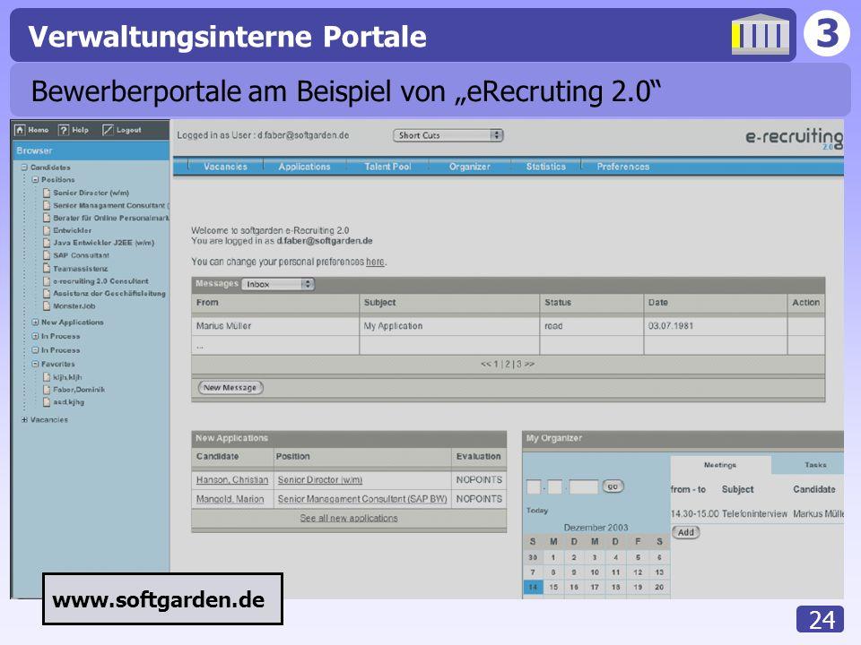 """Bewerberportale am Beispiel von """"eRecruting 2.0"""