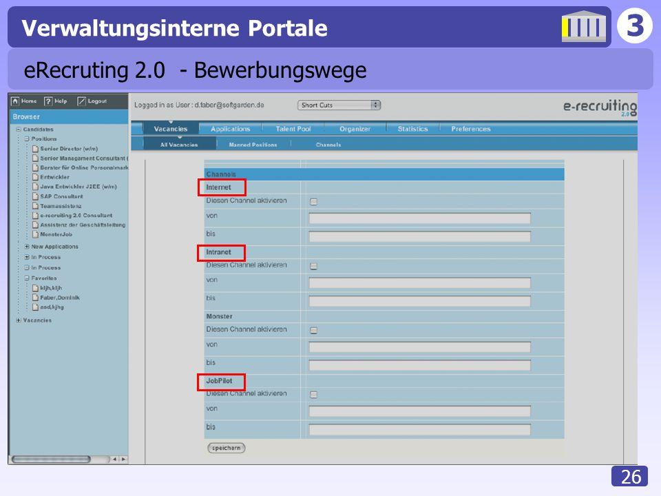 eRecruting 2.0 - Bewerbungswege
