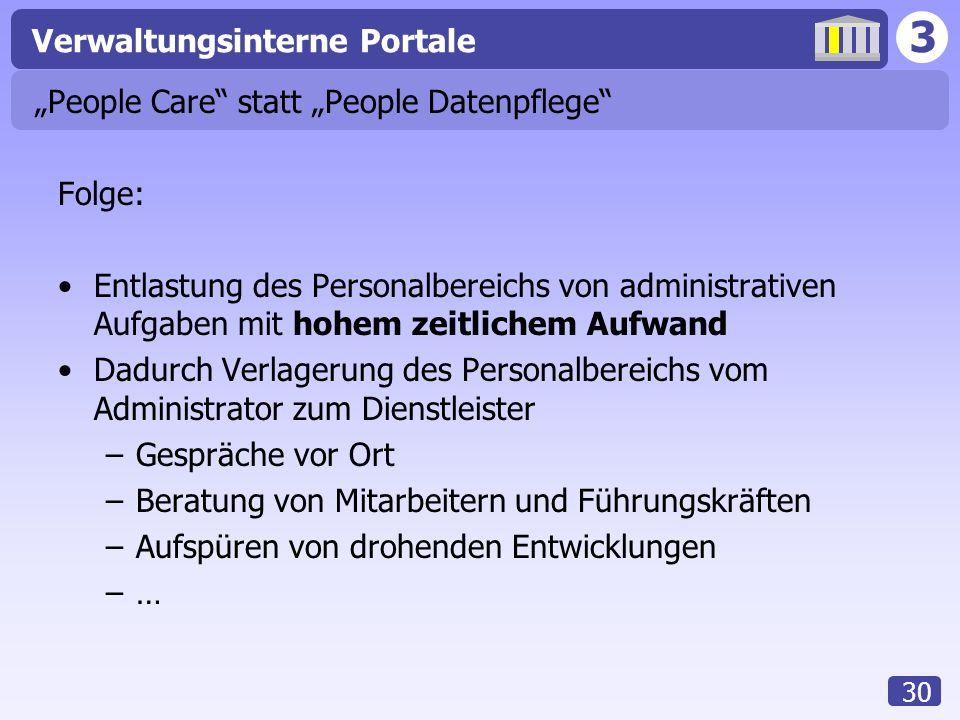 """""""People Care statt """"People Datenpflege"""