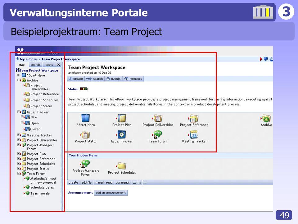 Beispielprojektraum: Team Project