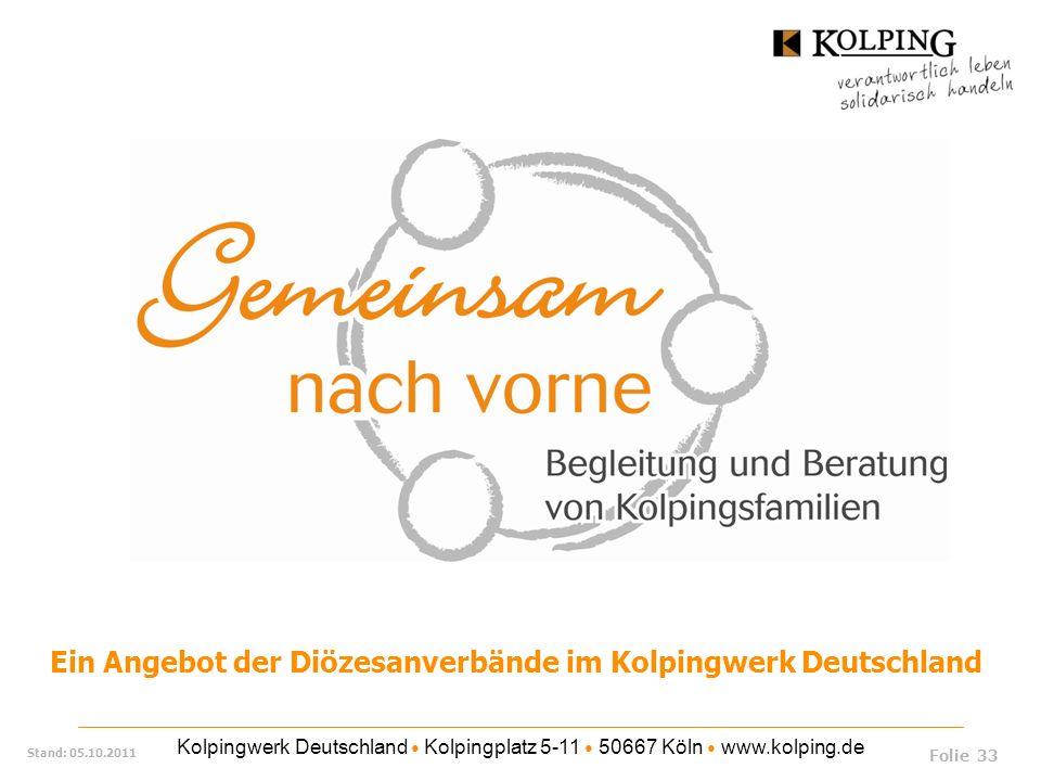 Ein Angebot der Diözesanverbände im Kolpingwerk Deutschland
