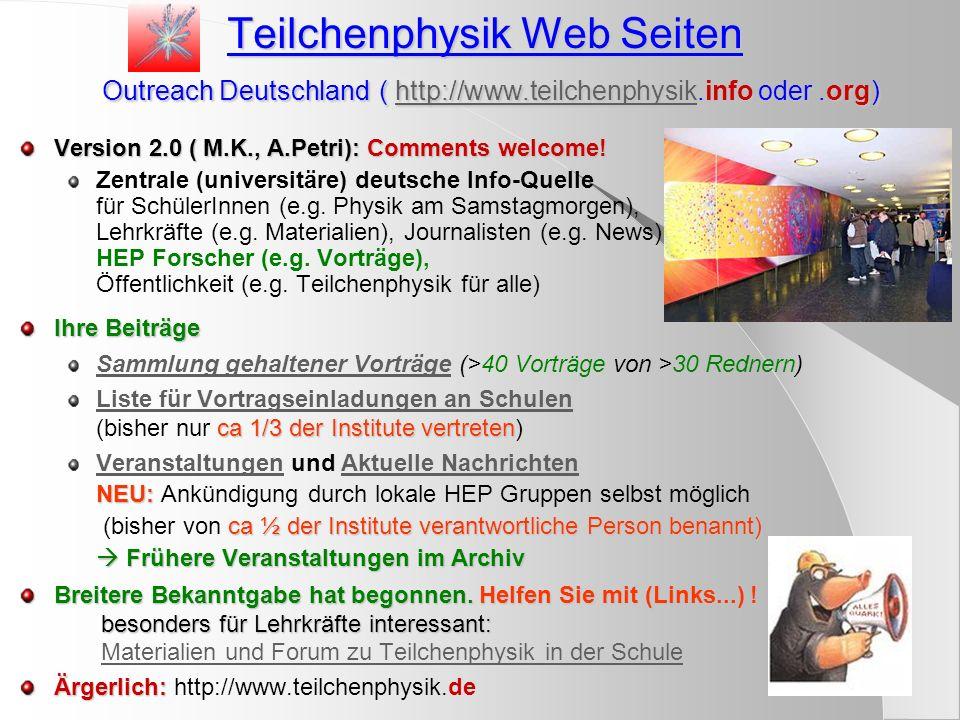 Teilchenphysik Web Seiten Outreach Deutschland ( http://www