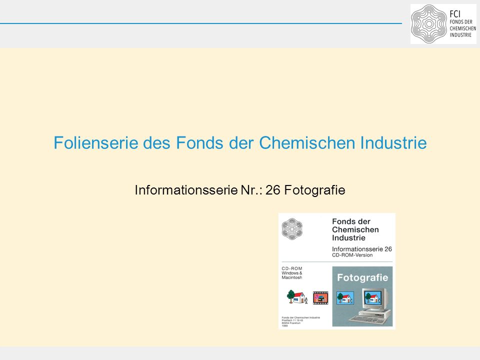 Folienserie des Fonds der Chemischen Industrie