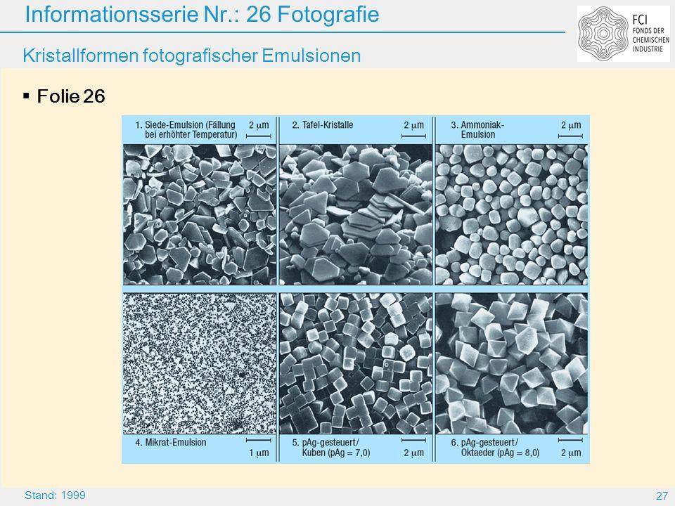 Kristallformen fotografischer Emulsionen