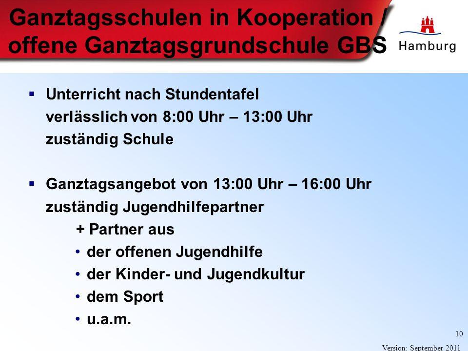 Ganztagsschulen in Kooperation / offene Ganztagsgrundschule GBS