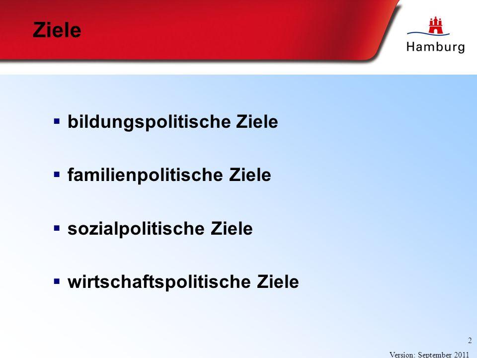 Ziele bildungspolitische Ziele familienpolitische Ziele