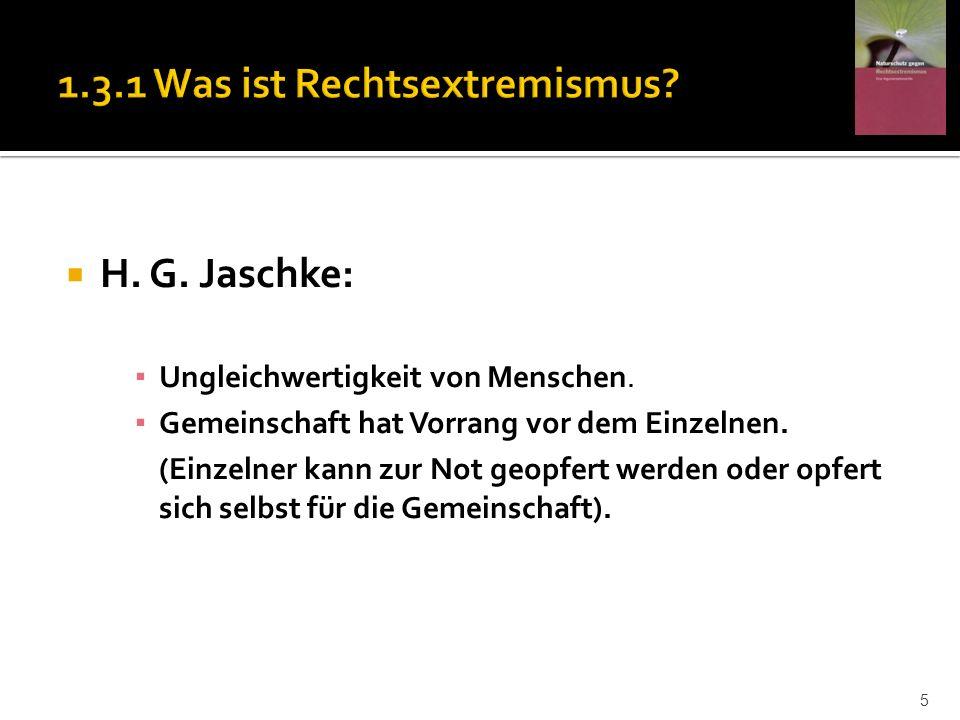1.3.1 Was ist Rechtsextremismus