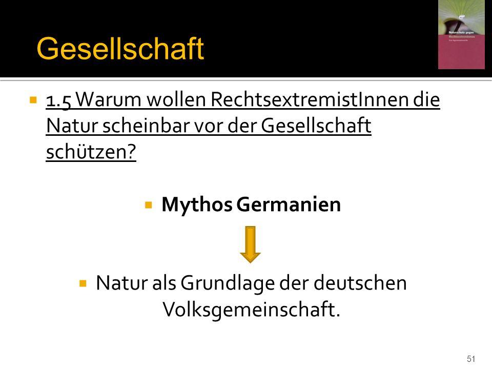 Natur als Grundlage der deutschen Volksgemeinschaft.