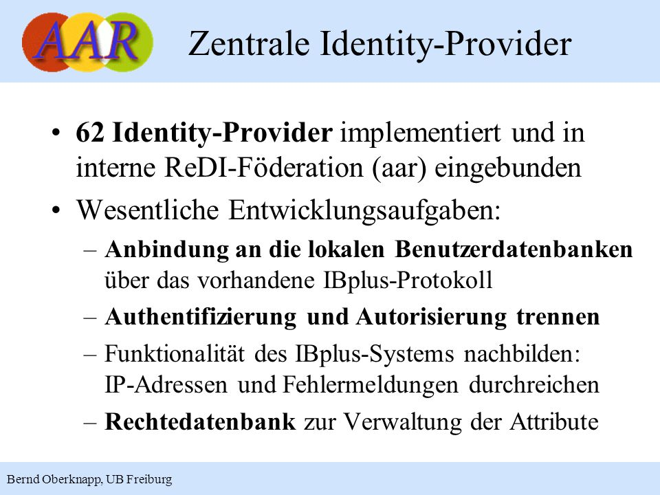 Zentrale Identity-Provider