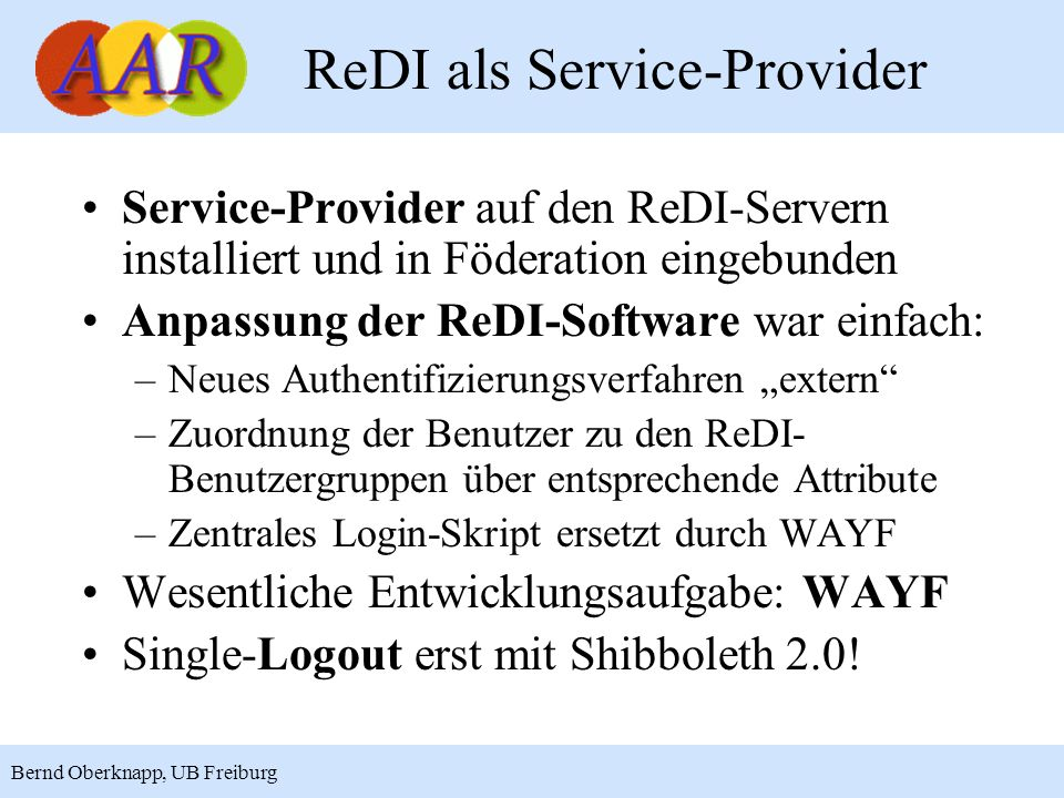 ReDI als Service-Provider