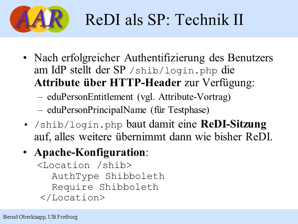 ReDI als SP: Technik II