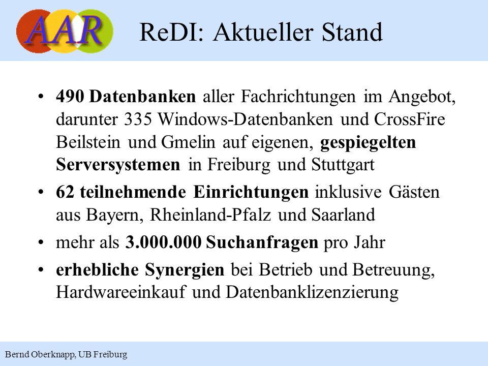 ReDI: Aktueller Stand