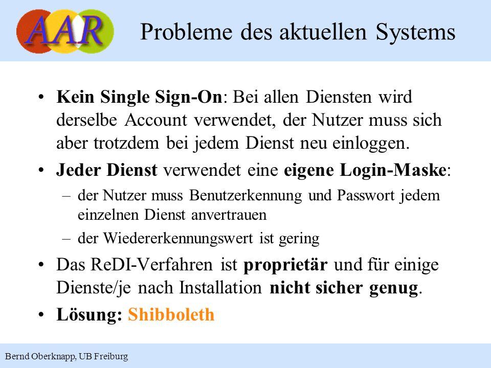 Probleme des aktuellen Systems