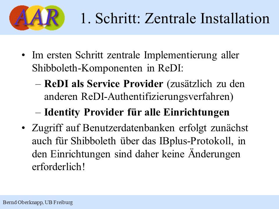 1. Schritt: Zentrale Installation