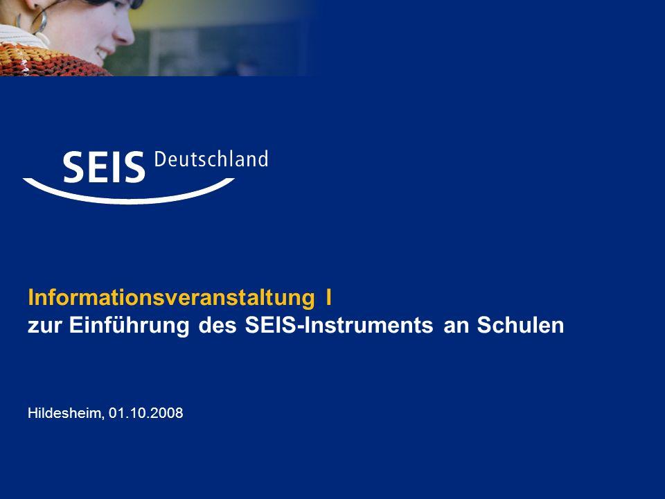 Informationsveranstaltung I zur Einführung des SEIS-Instruments an Schulen