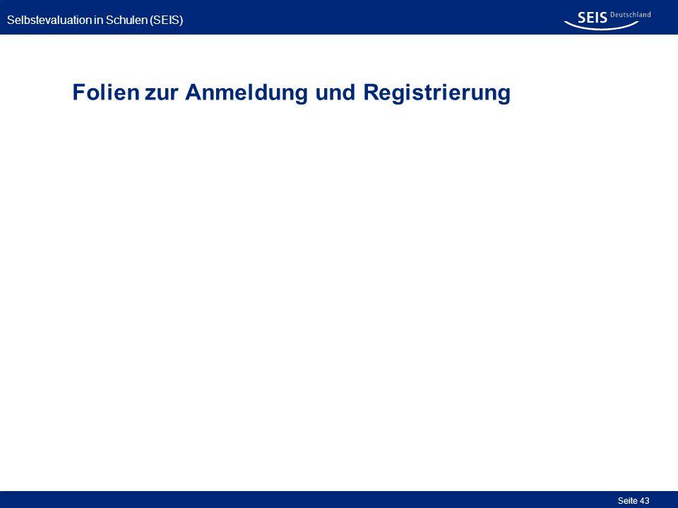 Folien zur Anmeldung und Registrierung