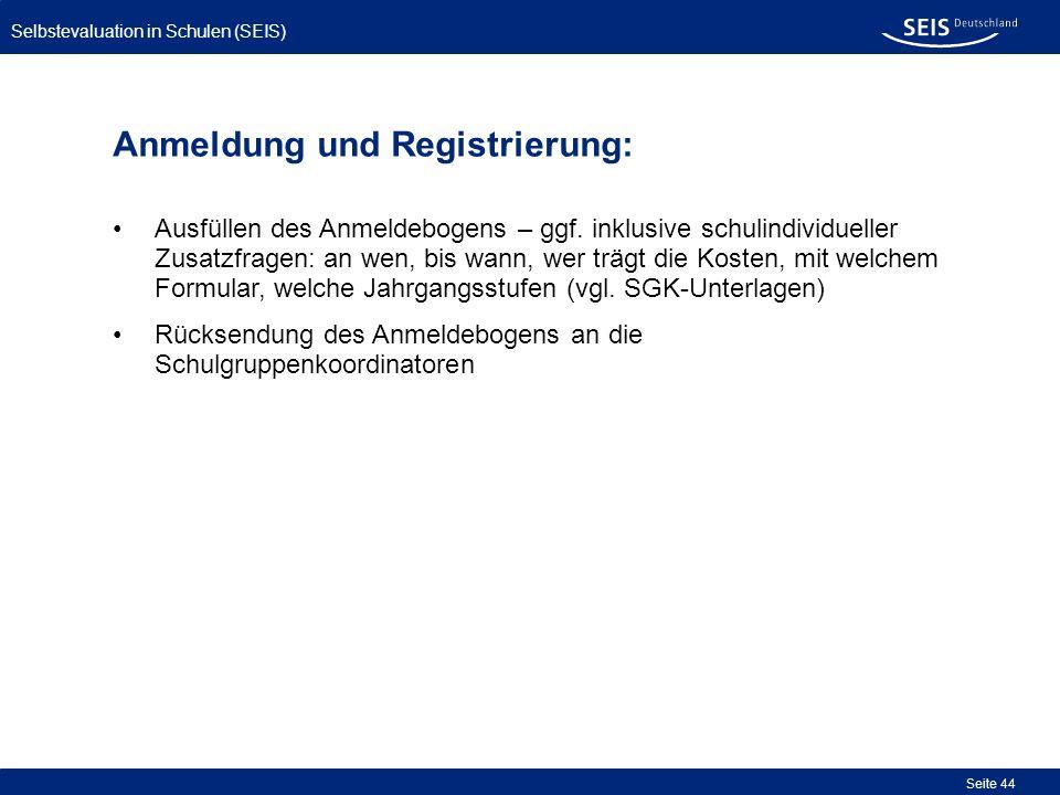 Anmeldung und Registrierung: