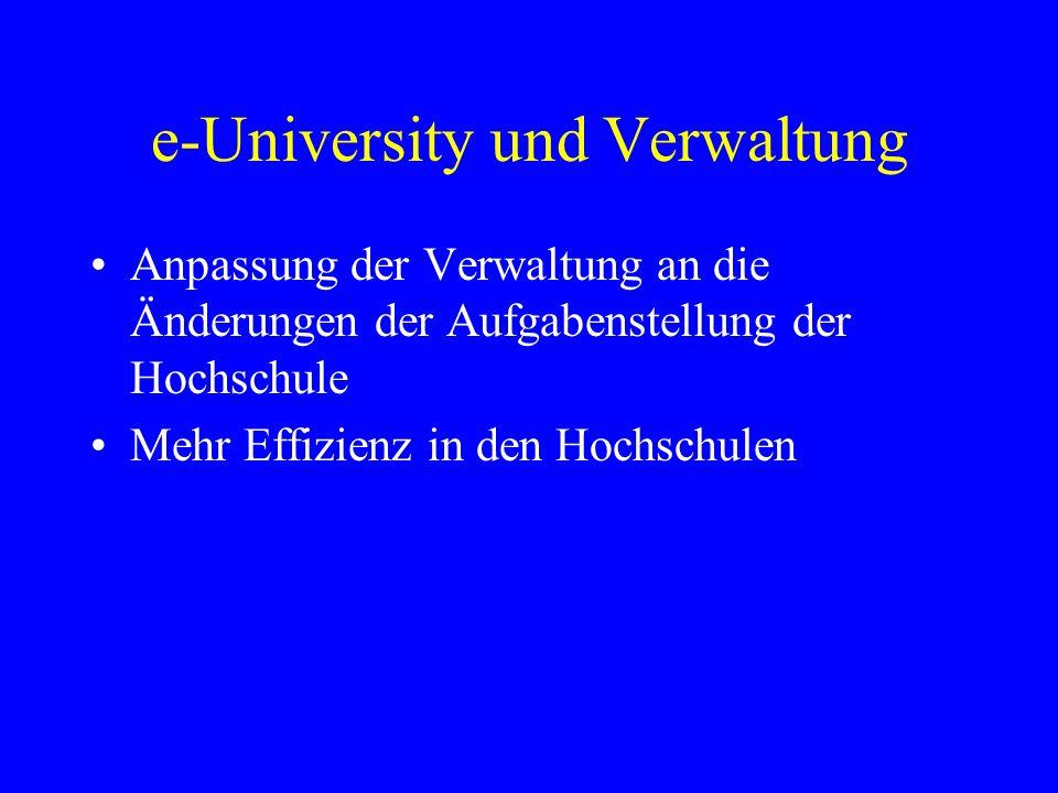 e-University und Verwaltung