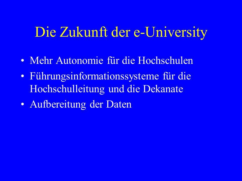 Die Zukunft der e-University