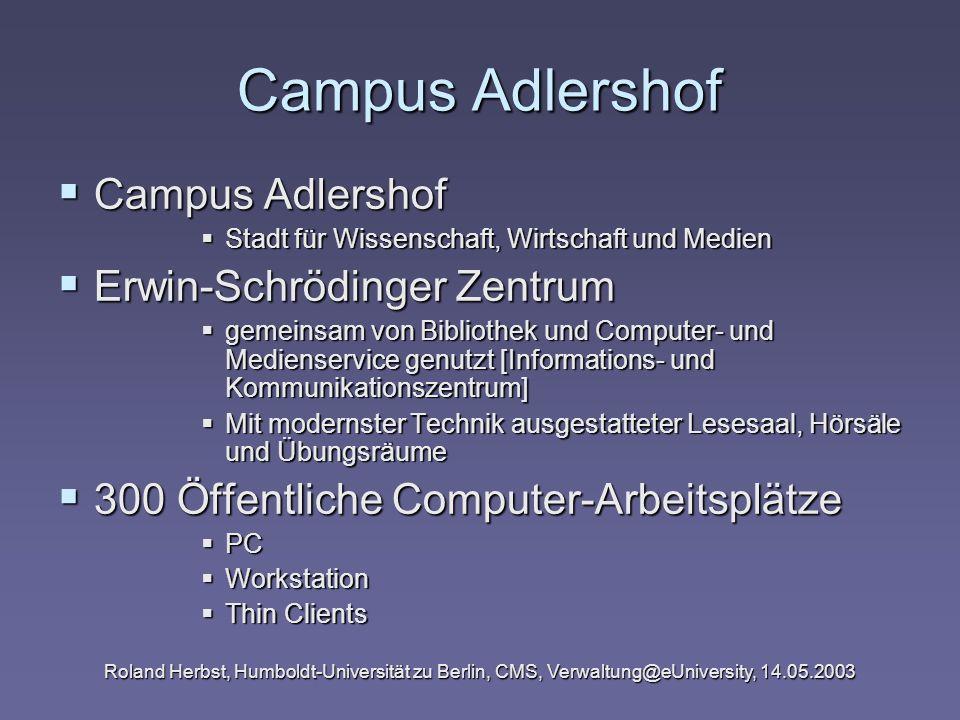 Campus Adlershof Campus Adlershof Erwin-Schrödinger Zentrum