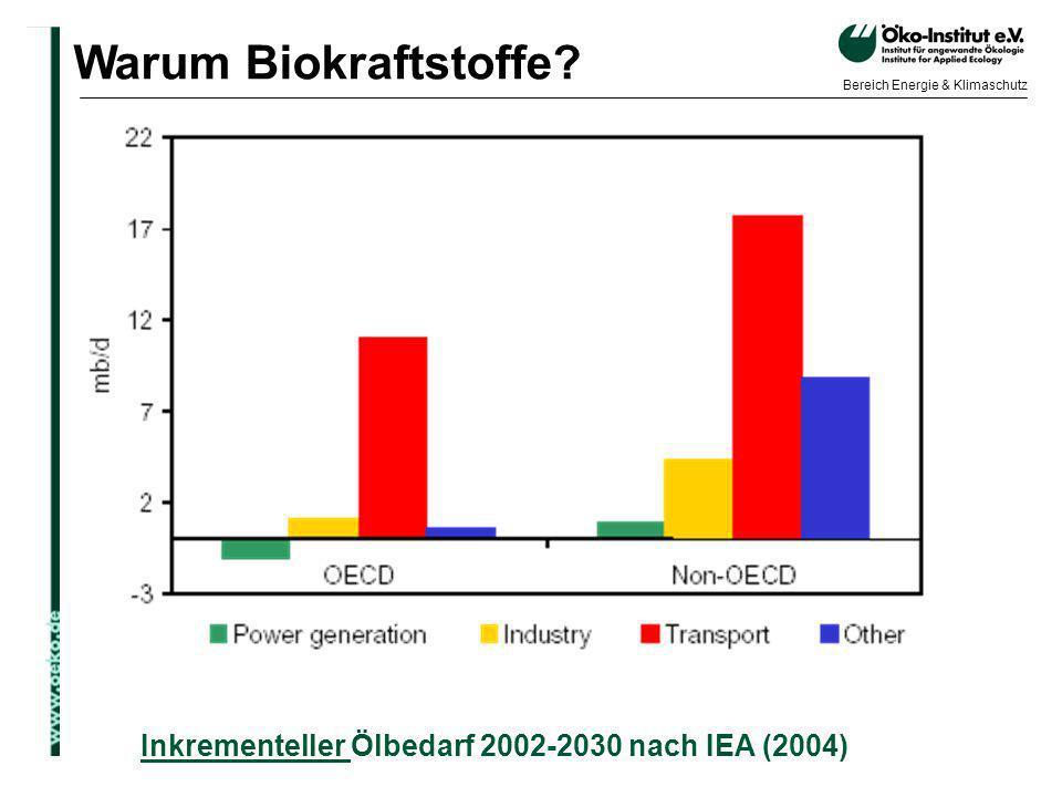 Warum Biokraftstoffe Inkrementeller Ölbedarf 2002-2030 nach IEA (2004)