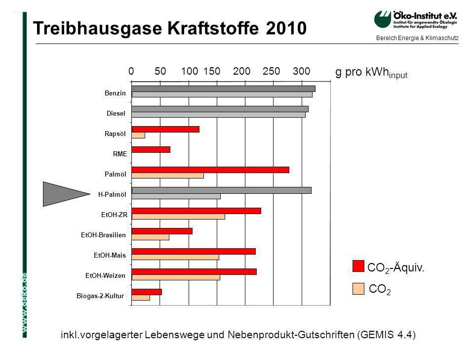 Treibhausgase Kraftstoffe 2010