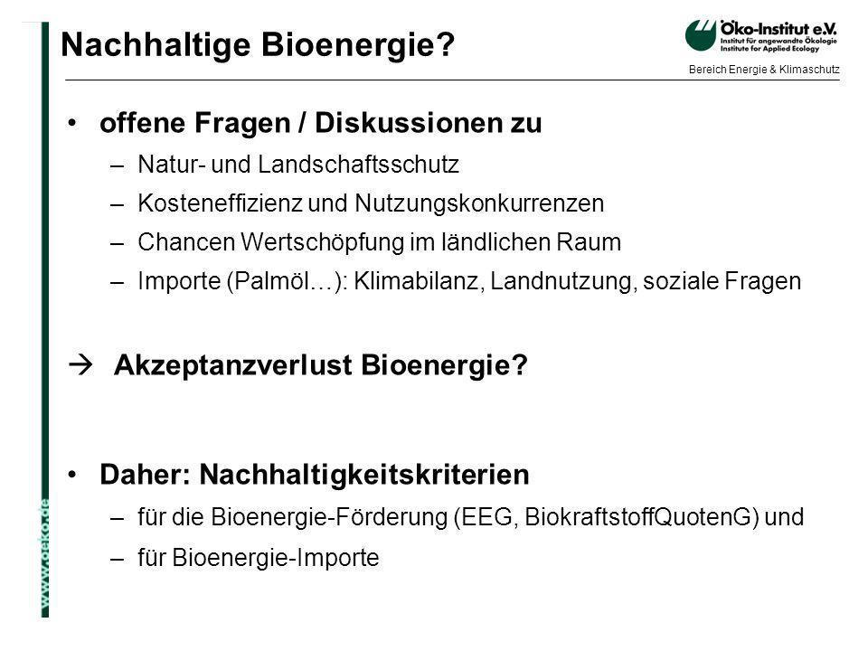 Nachhaltige Bioenergie