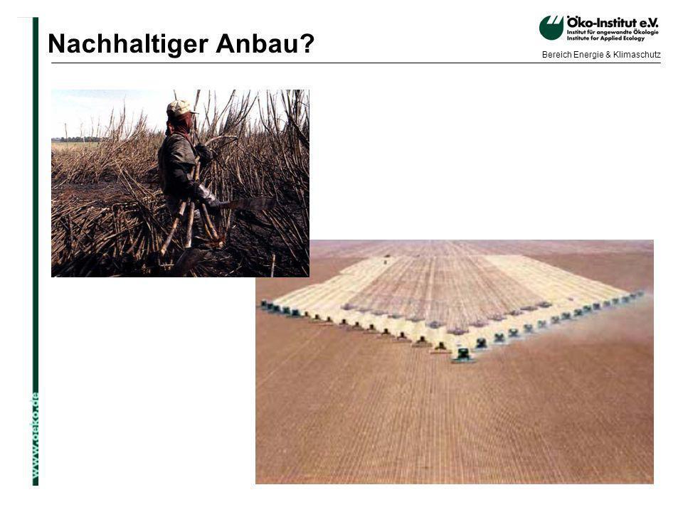 Nachhaltiger Anbau