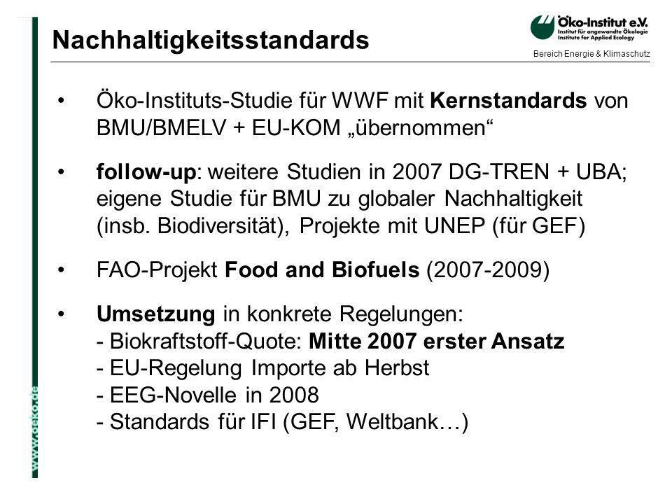 Nachhaltigkeitsstandards