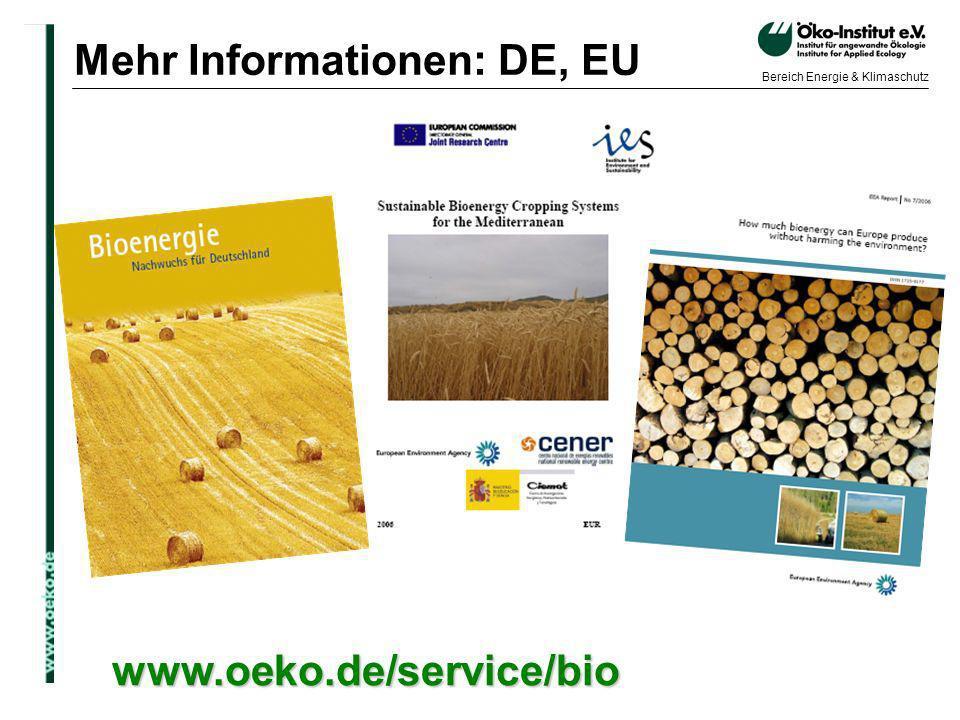 Mehr Informationen: DE, EU
