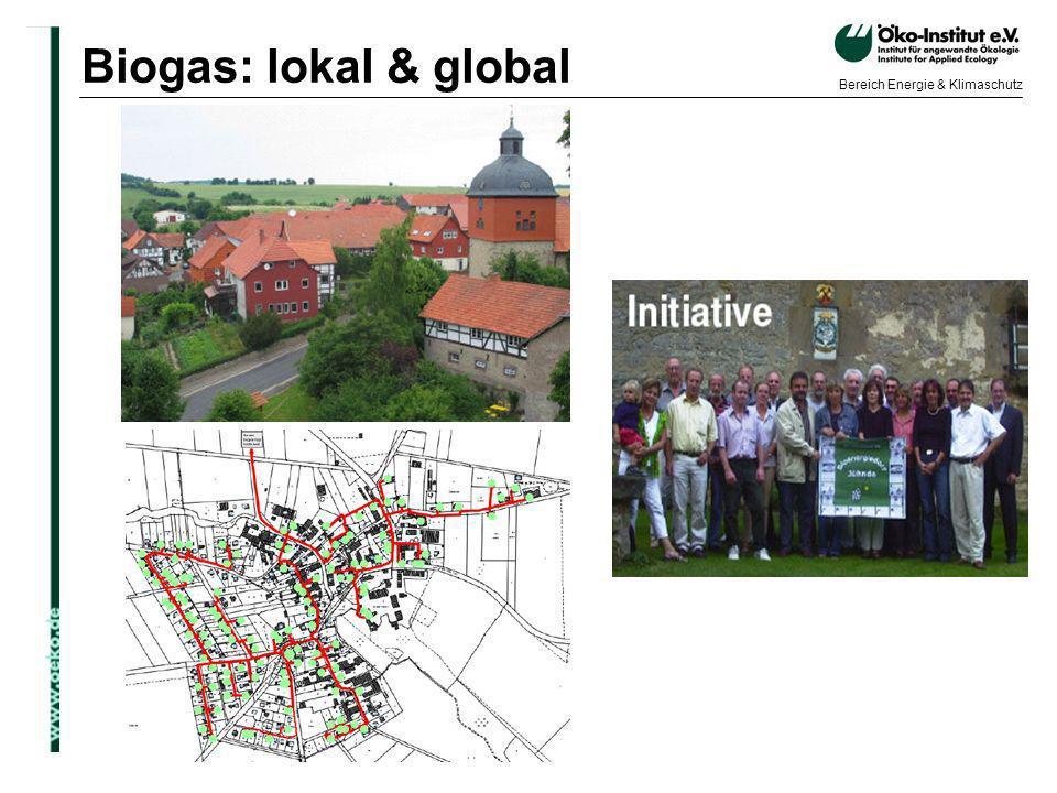Biogas: lokal & global