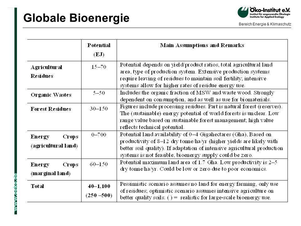 Globale Bioenergie