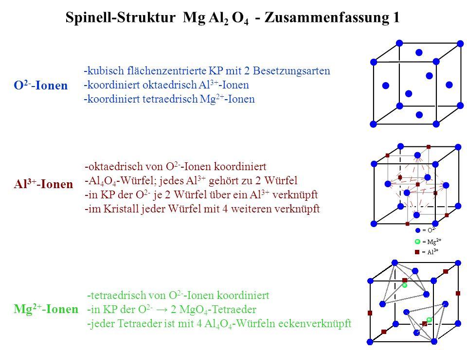 Spinell-Struktur Mg Al2 O4 - Zusammenfassung 1