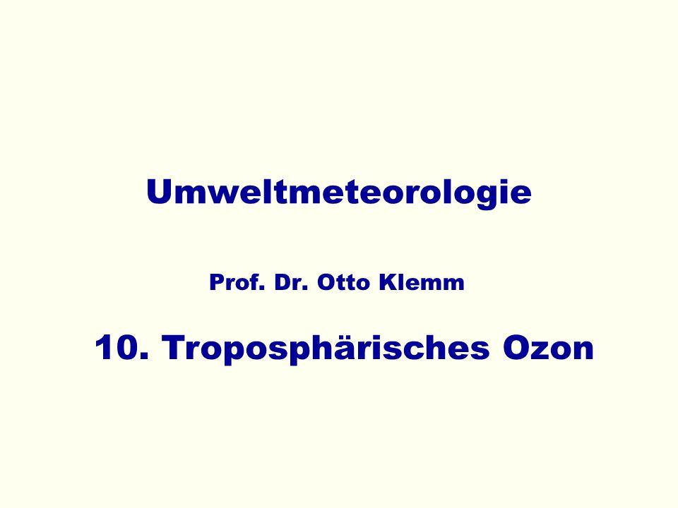 10. Troposphärisches Ozon