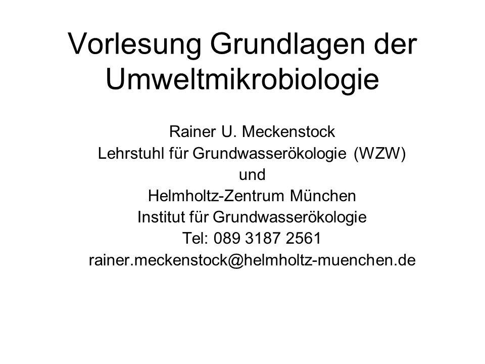 Vorlesung Grundlagen der Umweltmikrobiologie