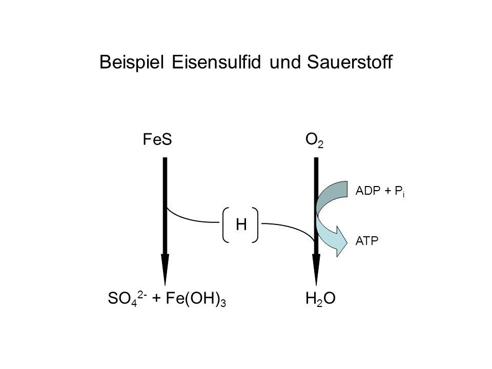 Beispiel Eisensulfid und Sauerstoff