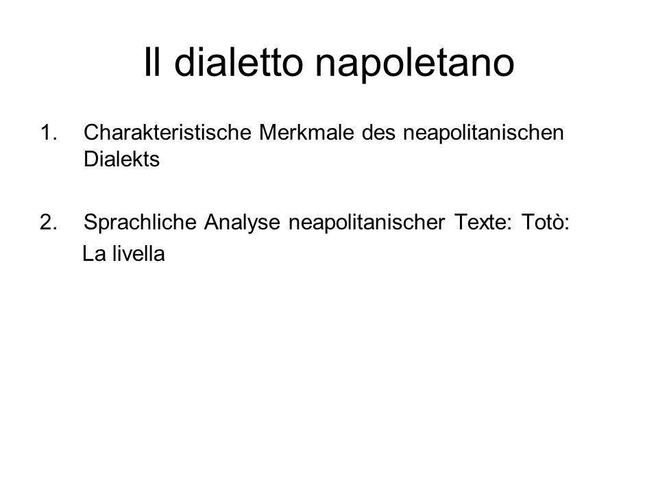 Il dialetto napoletano