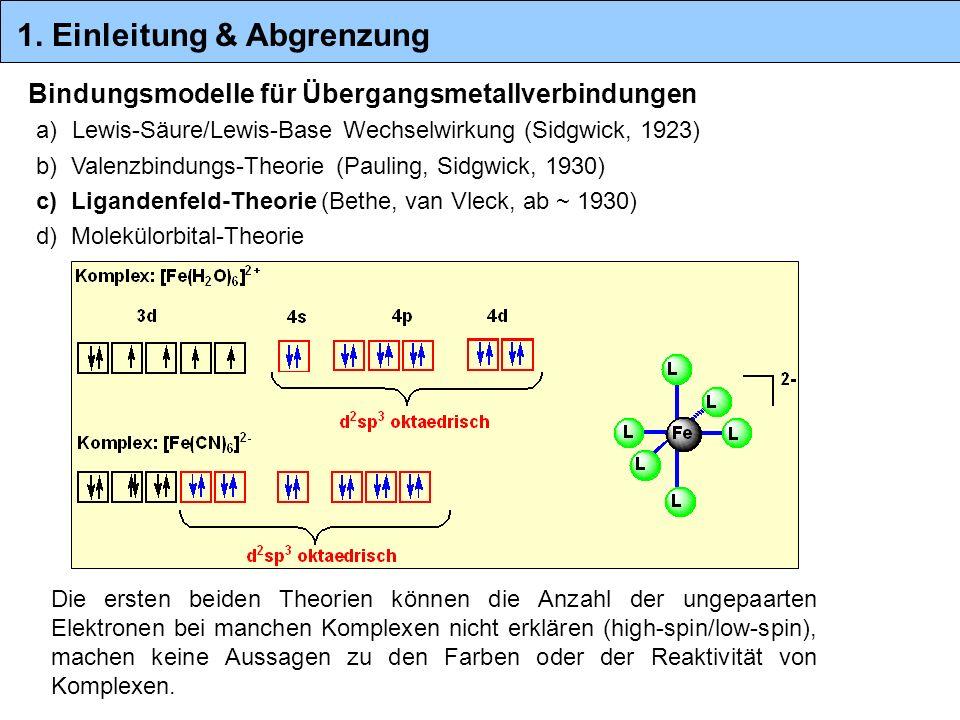 Bindungsmodelle für Übergangsmetallverbindungen