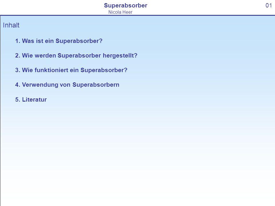 Inhalt Superabsorber 01 1. Was ist ein Superabsorber