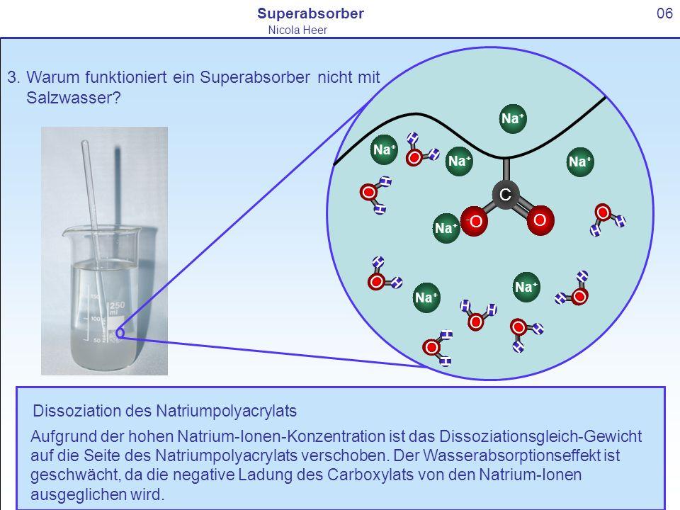 3. Warum funktioniert ein Superabsorber nicht mit Salzwasser