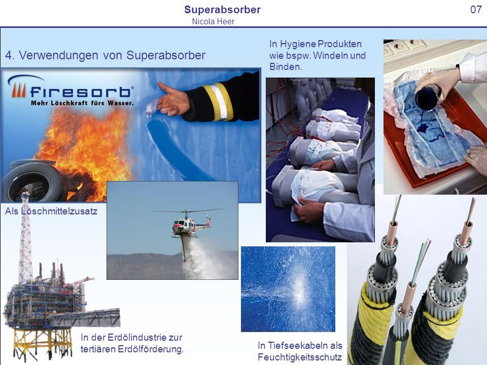 4. Verwendungen von Superabsorber