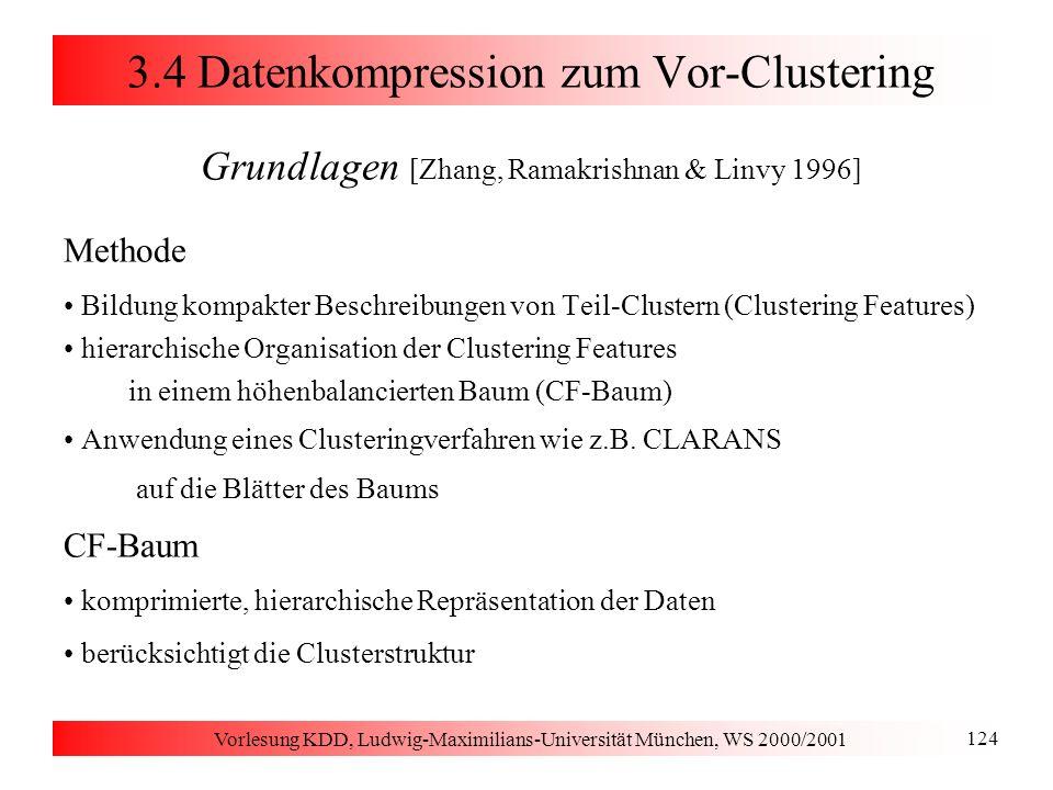 3. Clustering Inhalt dieses Kapitels
