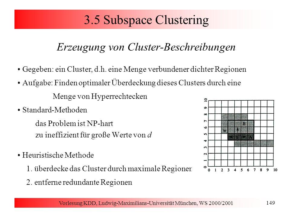3.2 Wahl des initialen Clustering