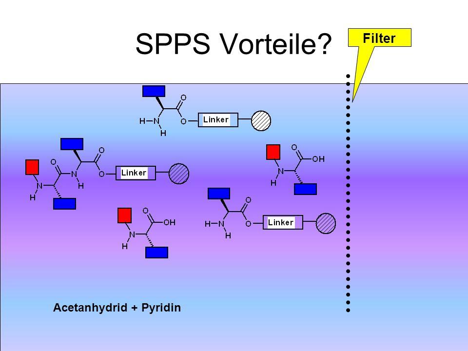 SPPS Vorteile Filter Acetanhydrid + Pyridin