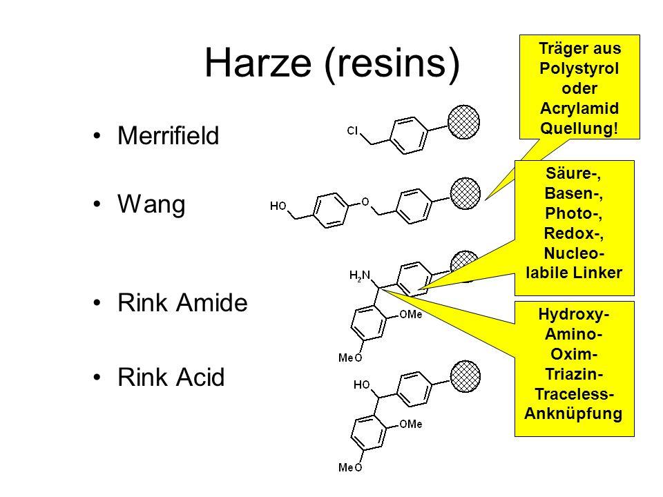 Träger aus Polystyrol oder Acrylamid