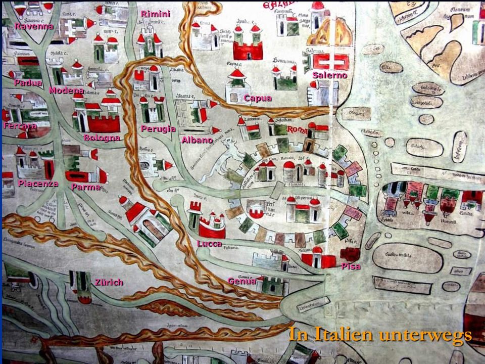 In Italien unterwegs Rimini Ravenna Salerno Padua Modena Capua Ferrara
