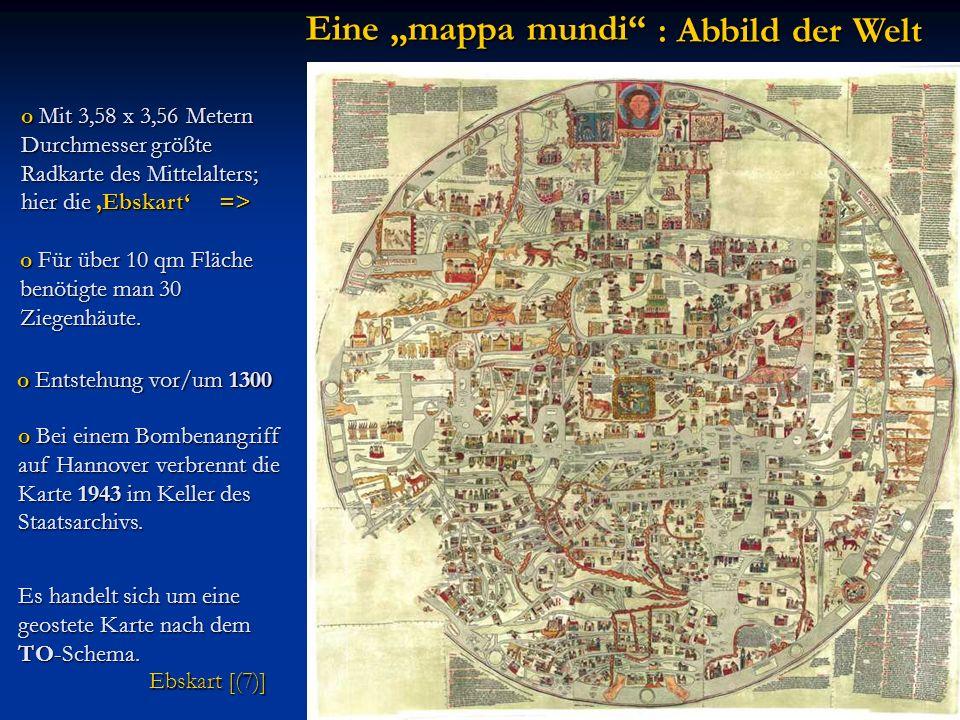 """Eine """"mappa mundi : Abbild der Welt"""